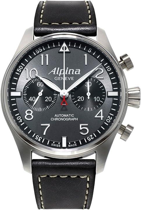 Orologio alpina geneve startimer chronograph al-860gb4s6 orologio da uomo sportivo rotore alpina
