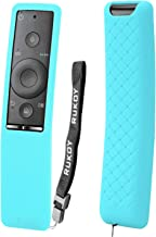 Rukoy Protecitve Case Cover Holder for Samsung Smart TV Remote Controller of BN59 Series, Kids-Friendly Anti-Slip Shockproof Anti-Lost with Hand Strap(Blue)