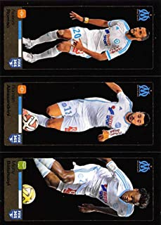 2015-16 Panini FIFA 365 Stickers Soccer #420-421-422 Alaixys Romao/Romain Alessandrini/Michy Batshuayi Trading Card Sized Album Sticker Dark shiny