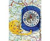 Betzold - Karten-Kompass - Mit Messskala und Bogenskala, transparent, Taschenkompass, Kinder - Betzold