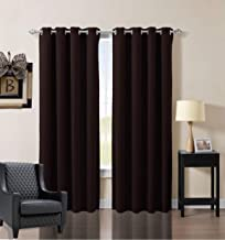 OCEAN LIFESTYLE Door Curtains, Blackout Liners, 84 Inch length Toffee Brown Drapes, Pack of Two Panels, Blind Fabric, Thermal Insulation, Heat, Light, Noise Blocking, Long-Lasting, Heavy-Duty Curtains
