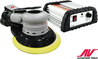 AirVANTAGE Palm-Style, Industrial-Grade Electric Sander Kit with Power Supply CENTRAL-VACUUM with Low-Profile Pad (6