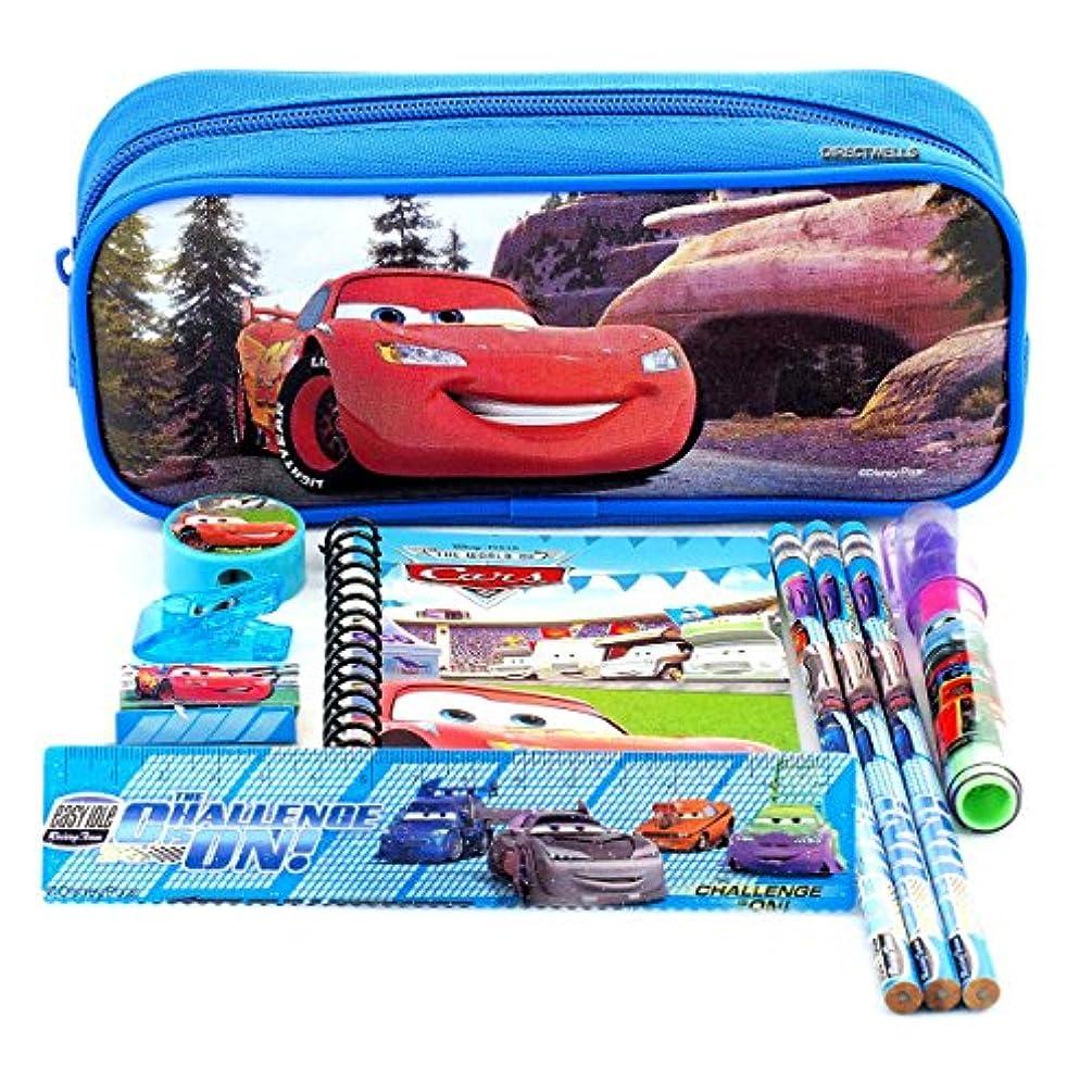 Disney Car Blue Pencil Case and Stationery Set