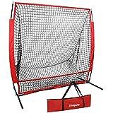 ZENY Portable 5'x5' Baseball Softball Practice Net Hitting Pitching Batting Training Net...