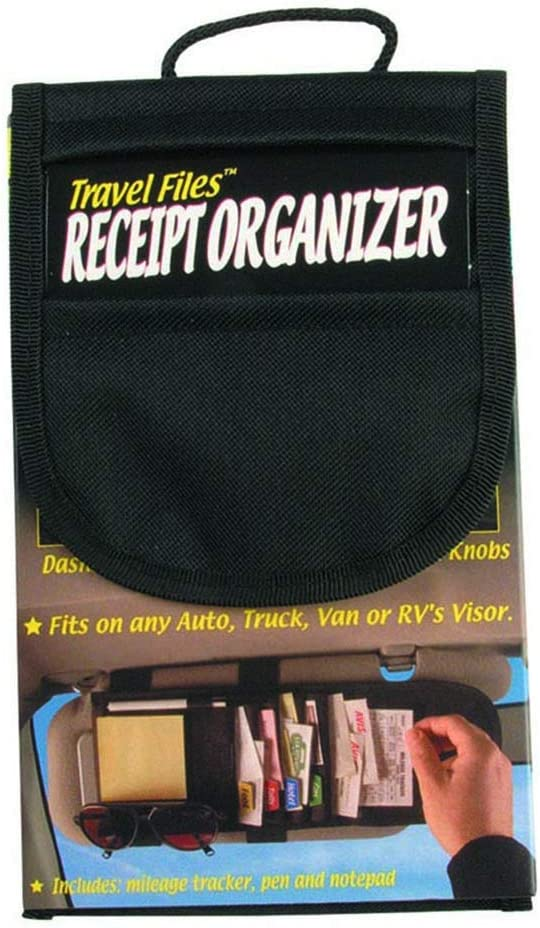 Travel High order Files Five-Pocket Austin Mall Mileage Organizer Black Receipt 00300
