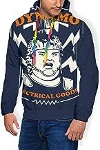 Dynamo Electrical Goods The Running Man Men's Fashion Sweatshirt Hoodie Hooded Pullover Pockets Plus Velvet