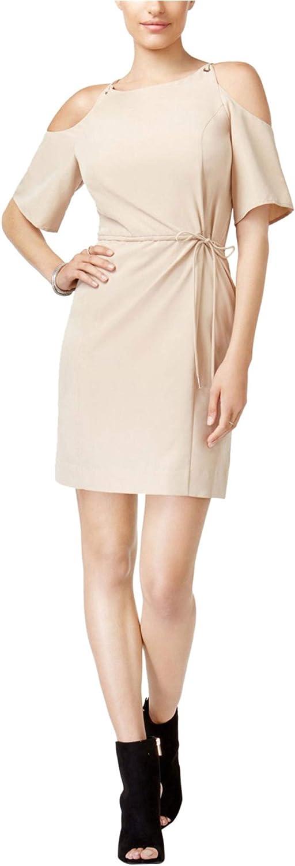 bar III Womens Cold-Shoulder Sheath Dress
