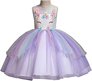 TiCARING Girls Princess Costume Tulle Tutu Dress Summer Sleeveless Costume Dressy Daisy Girls Princess Cinderella Dress Up Cosplay Fancy Party Tutu Dress