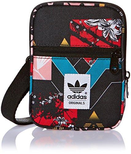 adidas Schultertasche Festival Soccer, Multicolor/Black, 13 x 17 x 3 cm, 0.6 Liter