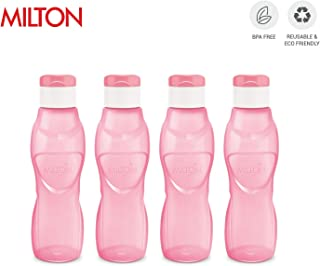MILTON Ace Flip Lid Sports Water Bottle BPA Free Leak Proof & Reusable 4 Piece Set, 33 oz (Pink)