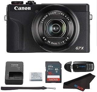 Canon PowerShot G7 X Mark III Digital Camera (Black) + 16GB Memory Card + Memory Card Reader + Pixibytes Microfiber Cleani...