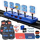 BFUNTOYS Digital Moving Shooting Target with Foam Dart Toy Guns & 2 Packs Kids Tactical Vest Kits for Nerf Gun, Shooting Toy for Age of 5,6,7,8,9,10+ Years Old Kids, Boys & Girls (2021 Deluxe Version)