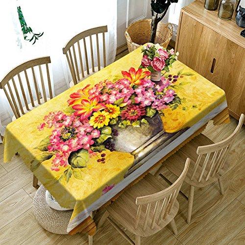 XXDD 3D Exquisite lila lila Lilie Blumen wasserdichte rechteckige Tischdecke für Küchentischdekoration Tischdecke A1 140x140cm