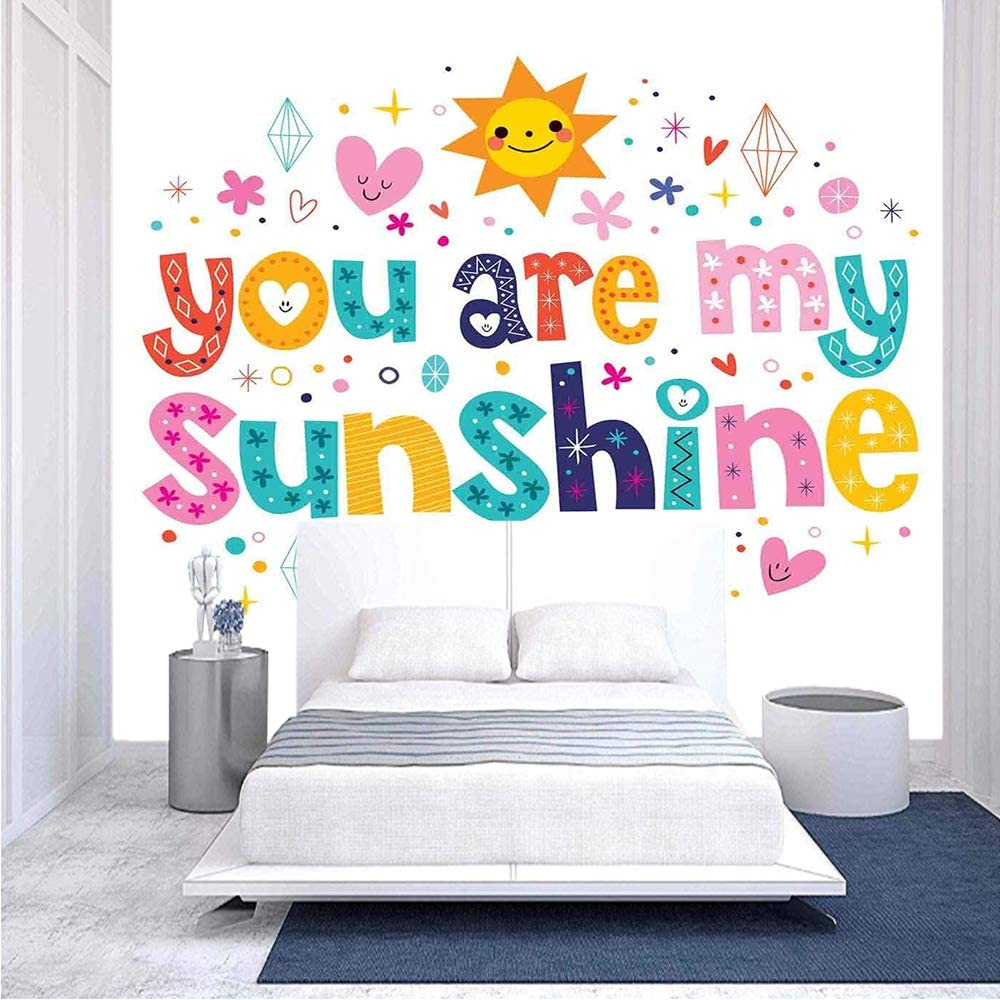 96x69 Popular shop is the lowest price challenge inches Wall Mural Cute Love Text by A Fun shopping Happy Print Made