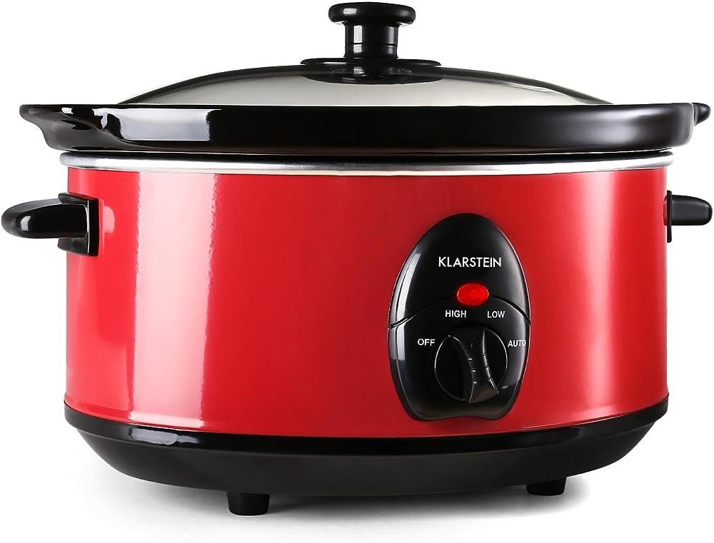 klarstein,pentola slow cooker, cucina a cottura lenta (3,5 litri, 200 watt, 2 livelli di temperatura) tk16-bristol-35