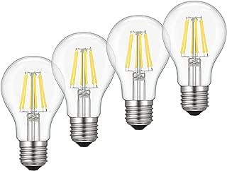 Cloudy Bay LED Filament Bulb,8W Warm White 2700K,4 Pack