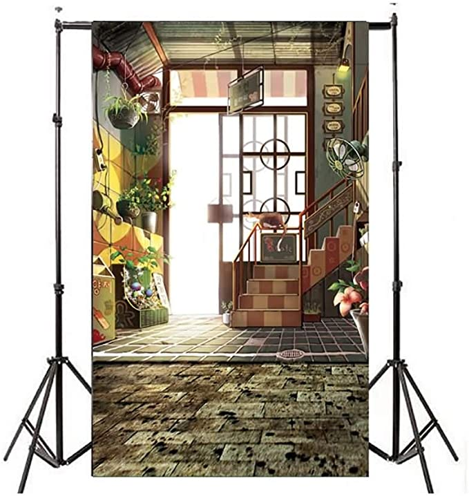 Mall Fun Photo Studio Background Photography Backdrop Birthday Party Props for Children Pets Internet Celebrity #197 Color : 10111174, Size : 250180CM