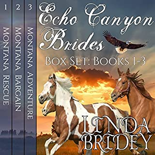 Echo Canyon Brides Box Set     Books 1-3              By:                                                                                                                                 Linda Bridey                               Narrated by:                                                                                                                                 Lawrence D. Yaklin,                                                                                        Erick Burr                      Length: 22 hrs and 17 mins     88 ratings     Overall 4.3