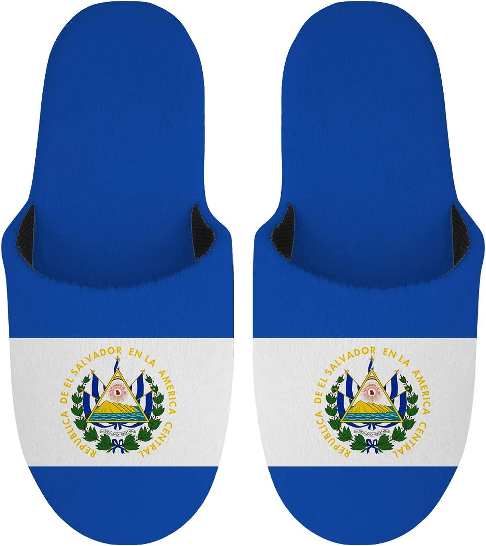 Max 57% OFF El Salvador Flag Max 49% OFF Men's Memory Foam Slippers Comfort Knitted