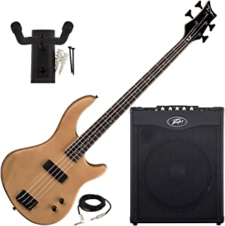 $429 Get Dean Edge 09 Satin Natural Bass Guitar, Peavey Max 115 Combo Amp, and Hanger