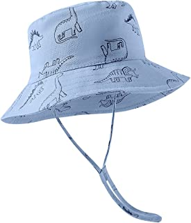 Baby Sun Hat Cotton, Toddler UPF 50+ Sun Protection Beach Bucket Hat Kids Boys Girls Wide Brim Summer Play Hat