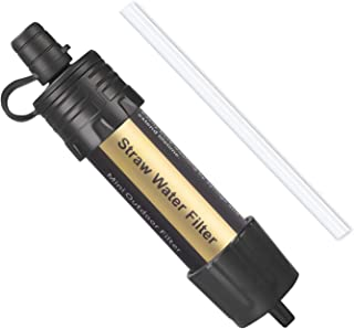 Easiestsuck Water Filter Straw Short Paragraph,Portable Personal Emergency Water Filtration Purifier for Travel,Camping,Su...