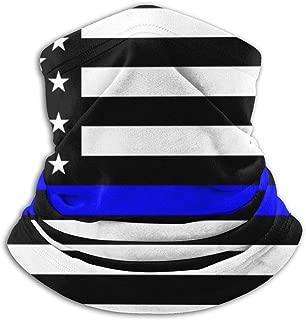 Jxrodekz Thin Blue Line Blue Lives Matter Flag.png Nuevo estilo caliente Adulto Cuello Headwear Diadema Bufanda mágica Bandanas sin costuras Multi-Functio