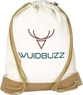 WUIDBUZZ Fairtrade Turnbeutel Rucksack | 3 Prints | Unisex Hipster Jutebeutel | Handmade