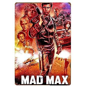 Mad Max Movie Poster Tin Signs Retro Plaque Decor Wall Art Home Decor 20x30cm