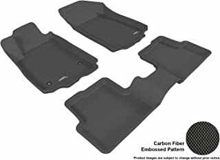 3D MAXpider Complete Set Custom Fit All-Weather Floor Mat for Select Chevrolet Sonic Models - Kagu Rubber (Black)