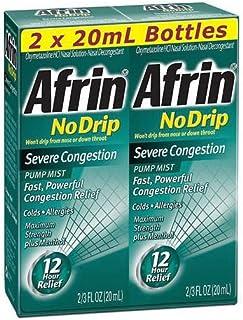 Afrin No Drip Severe Congestion - VarietySize Pack of 4 BottleS (20ml Each)