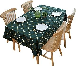 brown plaid tablecloth