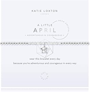 Katie Loxton a Little Birthday Months Womens Stretch Adjustable Band Fashion Charm Bracelet
