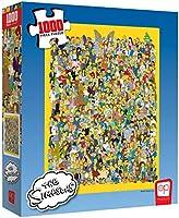 USAopoly Puzle de 1000 Piezas The Simpsons Cast of Thousands   Producto Oficial de Simpsons   Rompecabezas Coleccionable...
