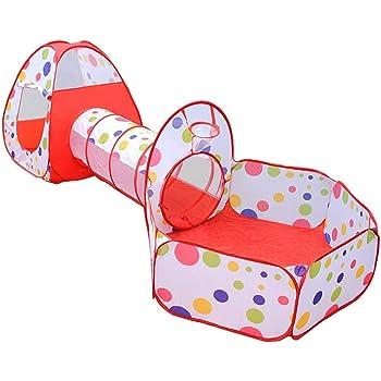 Dazers 折り畳み式 子供用テント セット 海洋ボールプール プレイトンネル ボールハウス を組み合わせた室内遊具 公園玩具 おもちゃトンネル 知育玩具