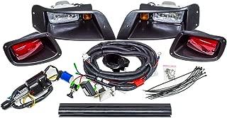EZGO TXT Golf Cart Street Legal Halogen Headlight LED Tail Light Upgrade Light Kit Turn Horn Brake 1996-2013