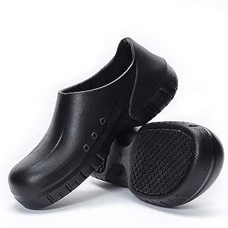 Goupstronger Men Women Slip Resistant-Chef Kitchen Work Shoes-Black Non Slip Clogs for Chef Nurse