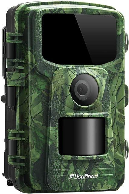 usogood Cámara de Caza 14MP 1080P Cámara de Vigilancia con Visión Nocturna Trail Cámara IP66 Impermeable Invisible 2.4  LCD para Monitoreo de Vida Silvestre y Seguridad en el hogar