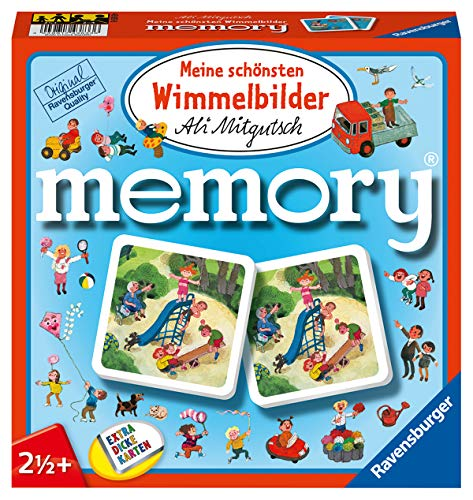 Ravensburger 81297 - Meine schönsten Wimmelbilder Memory der Spieleklassiker für alle Wimmelbilder Fans, Merkspiel für 2-4 Spieler ab 2 Jahren