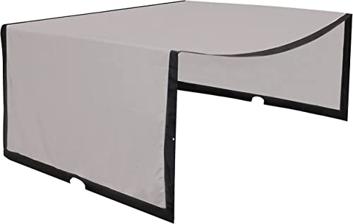 high quality Sunnydaze Polyester Retractable Pergola Canopy Shade - Replacement Shade Only - Outdoor Fabric discount Canopy for 9x12 Foot Pergola - Provides Cover from Sun and Rain popular - Gray online sale
