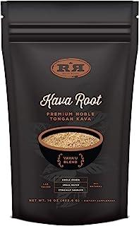 Kava Root Powder - Tongan Noble Premium Natural Kava Drink, Calming Stress Relief, 16oz