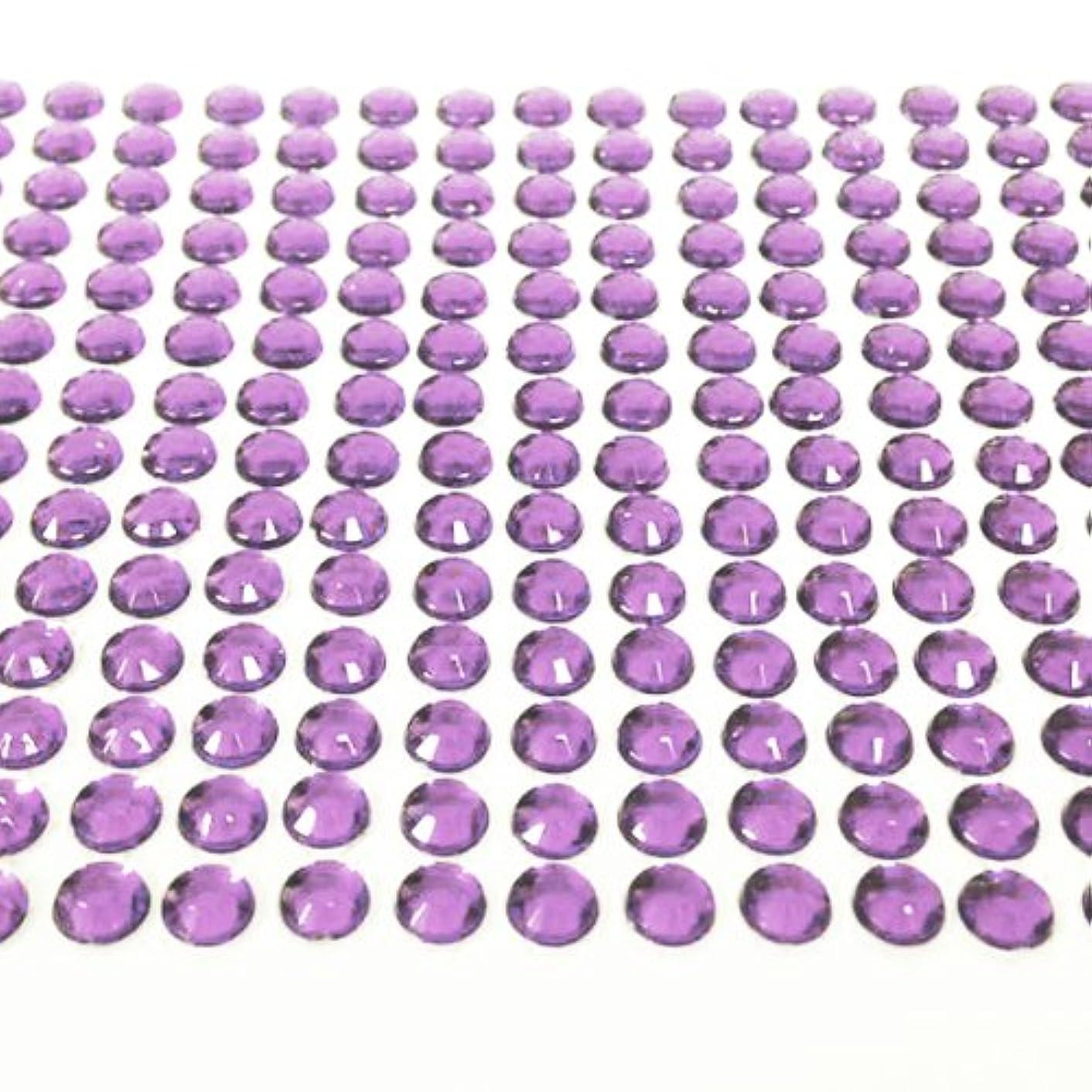 AllyDrew 6mm Crystal Diamond Adhesive Rhinestones, 500 pieces, Light Purple