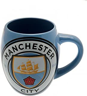MANCHESTER CITY FC TEA TUB MUG - LIGHT BLUE MUG WITH TEAM CREST ON FRONT - HOLDS OVER 16 OUNCES - GREAT MUG FOR ANY MCFC SOCCER FAN - GET YOURS TODAY