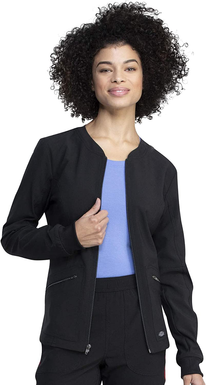 Dickies Retro Women Warm Up Scrubs Jacket DK311: Clothing, Shoes & Jewelry