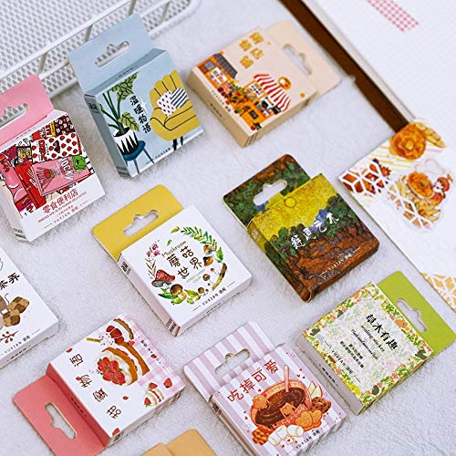 PMSMT 50 unids/Pack Juego de Pegatinas de Bosque de Bosque Pegatina de papelería Decorativa Scrapbooking DIY Diario álbum de Fotos decoración Etiqueta Adhesiva