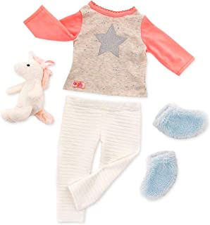 Our Generation-Unicorn Wishes- PJ Outfit & Stuffie- Outfit & Accessories for 18 inch Dolls- Ages 3 Years and Up