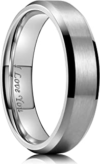 4mm/6mm/8mm Stainless Steel Ring Matte Finish & Polished...