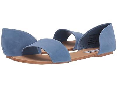 Steve Madden Corey Flat Sandals (Light Blue) Women