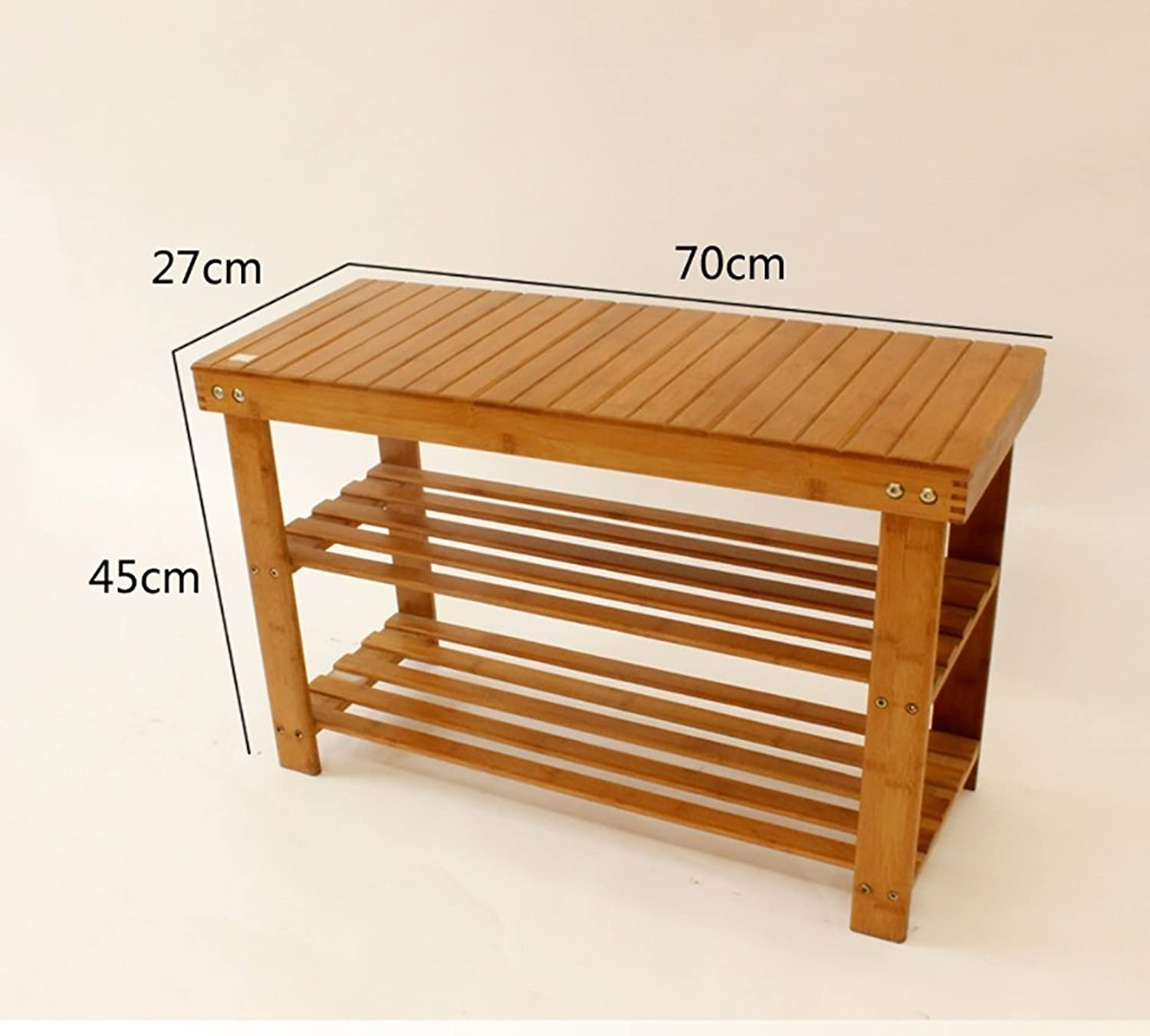 shoes Bench Organizing Rack shoes Racks Bamboo shoes Shelves Flat shoes Display Stand Home Door shoes Rack Solid Wood shoes Cabinet (Size   2-70cm)