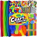 Carl & Kay [1750+ pcs] Arts & Crafts Supplies, Creative Kid's Gift, Bulk Assorted Crafting Materials for Toddlers, Sensory Bin Items, STEM/STEAM Learning Activity Toys, Busy Box Craft Bin Ideas